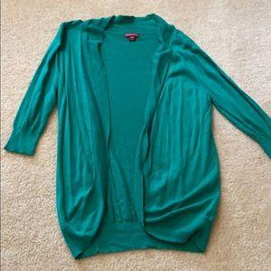 Bright green cardigan